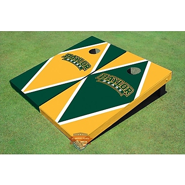 All American Tailgate NCAA Alternating Diamond Cornhole Board (Set of 2); Baylor University Arch