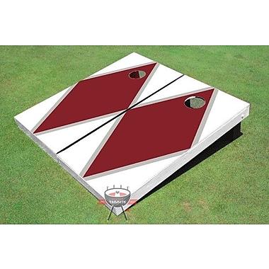 All American Tailgate Matching Diamond Cornhole Board (Set of 2); Maroon and White