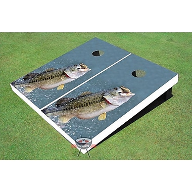 All American Tailgate Bass out of Water Cornhole Board (Set of 2)