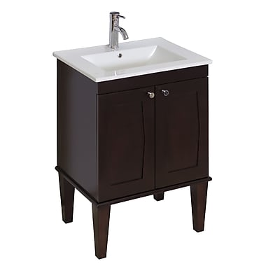 American Imaginations Transitional 32'' Single Bathroom Vanity Base; Aluminum