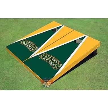 All American Tailgate NCAA Matching Triangle Cornhole Board (Set of 2); Baylor University Arch 2