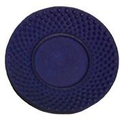 Creative Home Cast Iron Round Trivet; Blue