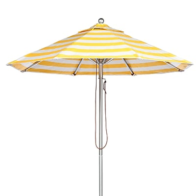 Frankford Umbrellas 11' Market Umbrella; Yellow and White Stripe WYF078277684093