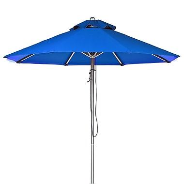 Frankford Umbrellas 9' Market Umbrella; Pacific Blue