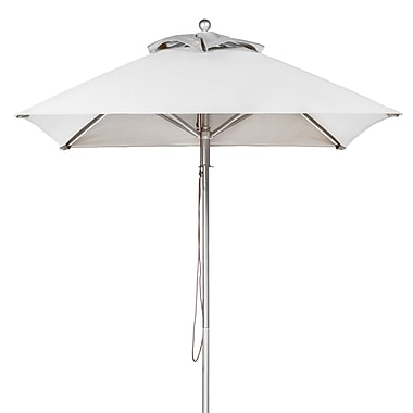 Frankford Umbrellas 6.5' Square Market Umbrella; White