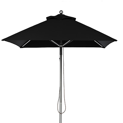 Frankford Umbrellas 6.5' Square Market Umbrella; Black WYF078277684056