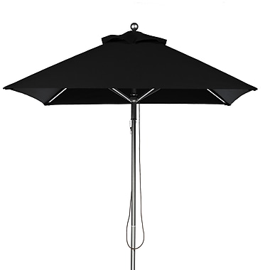 Frankford Umbrellas 6.5' Square Market Umbrella; Black