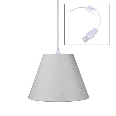 Home Concept 1-Light Mini Pendant; Light Oatmeal