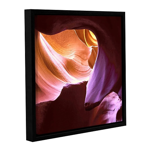 "ArtWall 'Ancient and Sacred' Gallery-Wrapped Canvas 18"" x 18"" Floater-Framed (0uhl001a1818f)"