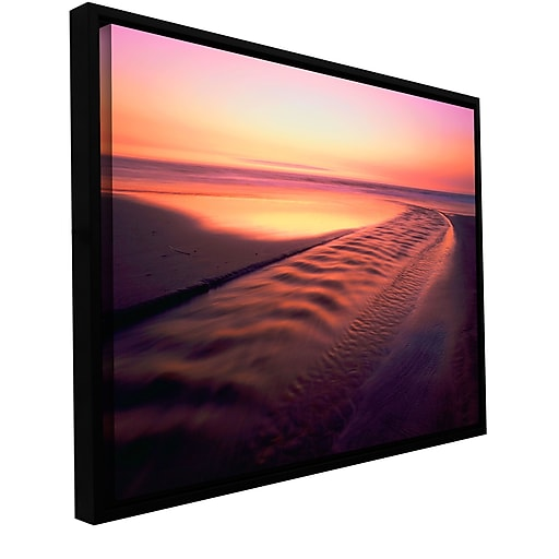 "ArtWall 'Back To The Sea' Gallery-Wrapped Canvas 36"" x 48"" Floater-Framed (0uhl005a3648f)"