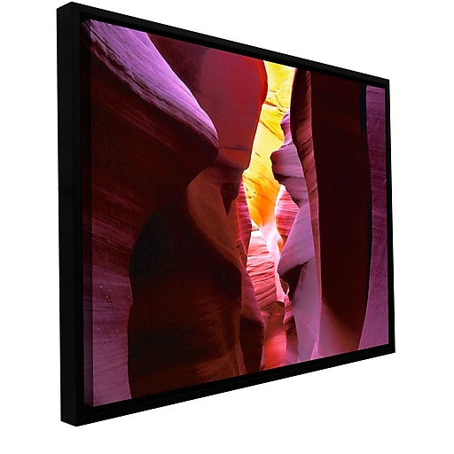 """ArtWall """"Canyon Light"""" Gallery-Wrapped Canvas 24"""" x 36"""" Floater-Framed (0uhl008a2436f)"""