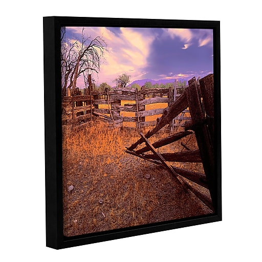 """ArtWall """"Ghost Ranch"""" Gallery-Wrapped Canvas 14"""" x 14"""" Floater-Framed (0uhl010a1414f)"""