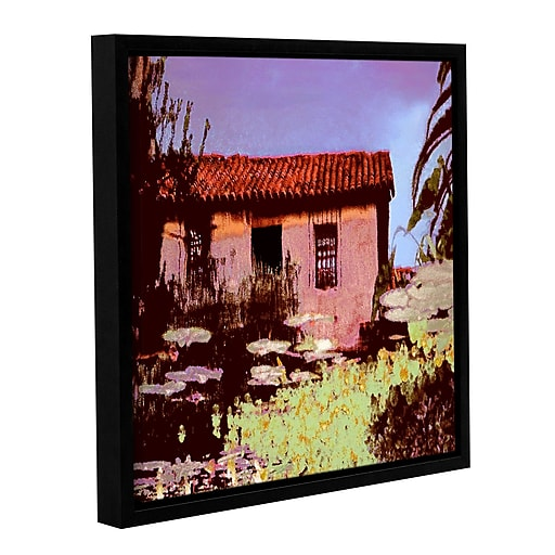 "ArtWall 'Reflection The Past' Gallery-Wrapped Canvas 36"" x 36"" Floater-Framed (0uhl014a3636f)"