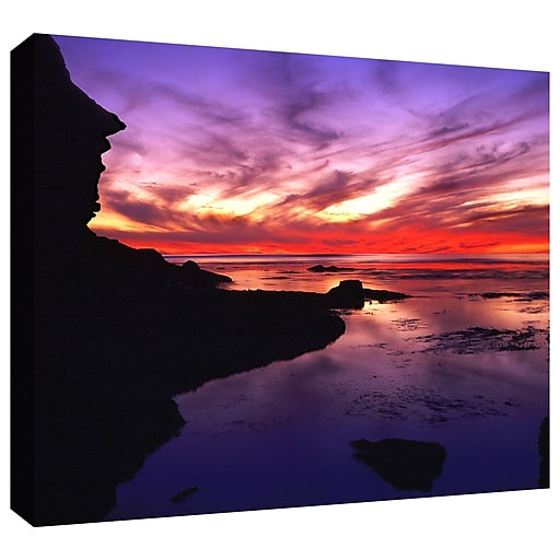 """ArtWall 'Sunset Cliffs Twilight' Gallery-Wrapped Canvas 14"""" x 18"""" (0uhl016a1418w)"""