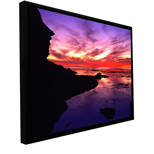 "ArtWall 'Sunset Cliffs Twilight' Gallery-Wrapped Canvas 14"" x 18"" Floater-Framed (0uhl016a1418f)"