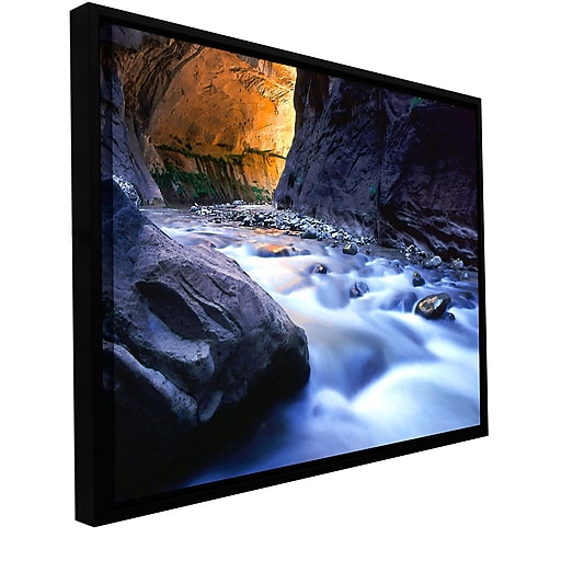 "ArtWall ""Wirgin Narrows"" Gallery-Wrapped Canvas 18"" x 24"" Floater-Framed (0uhl018a1824f)"