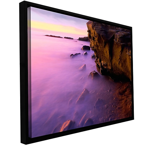 "ArtWall 'La Jolla Twilight' Gallery-Wrapped Canvas 24"" x 32"" Floater-Framed (0uhl027a2432f)"