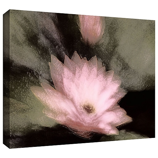 """ArtWall 'Lily And Bud' Gallery-Wrapped Canvas 24"""" x 32"""" (0uhl028a2432w)"""