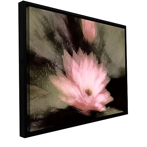 """ArtWall 'Lily And Bud' Gallery-Wrapped Canvas 14"""" x 18"""" Floater-Framed (0uhl028a1418f)"""
