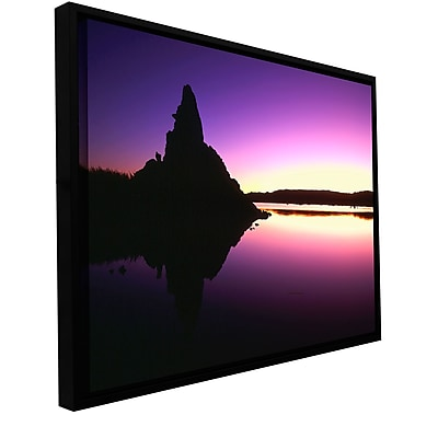 ArtWall 'Mono Lake Dawn' Gallery-Wrapped Canvas Floater-Framed 18