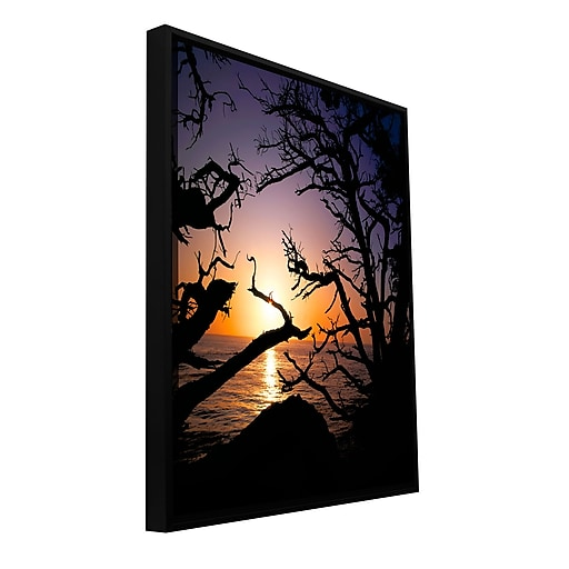 "ArtWall 'Pacific Light' Gallery-Wrapped Canvas 18"" x 24"" Floater-Framed (0uhl031a1824f)"