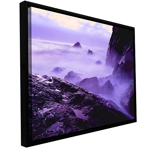 """ArtWall """"Patricks Point Sunset"""" Gallery-Wrapped Canvas 24"""" x 32"""" Floater-Framed (0uhl033a2432f)"""
