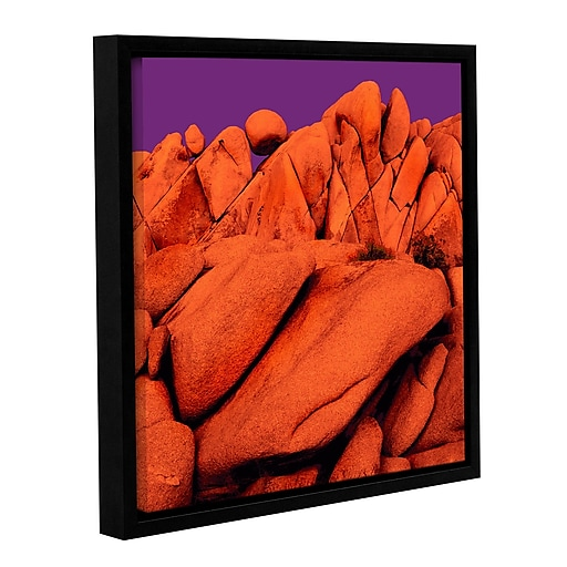"ArtWall 'Santa Ana Afterglow' Gallery-Wrapped Canvas 14"" x 14"" Floater-Framed (0uhl034a1414f)"