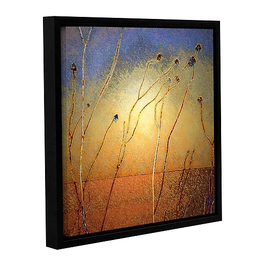 """ArtWall """"Texas Sand Storm"""" Gallery-Wrapped Canvas 14"""" x 14"""" Floater-Framed (0uhl039a1414f)"""