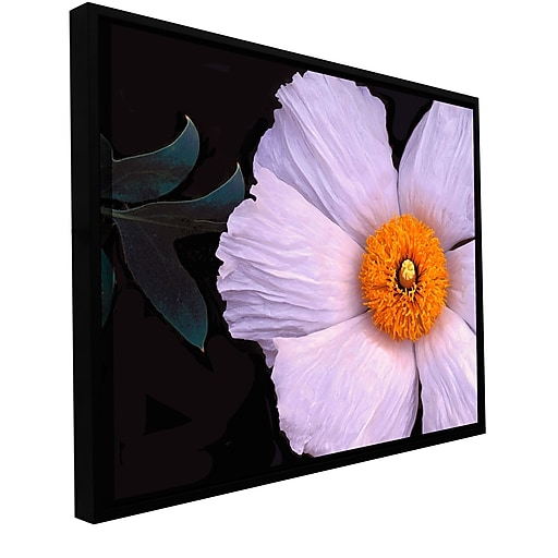 """ArtWall """"Wild Hibiscus"""" Gallery-Wrapped Canvas 14"""" x 18"""" Floater-Framed (0uhl044a1418f)"""