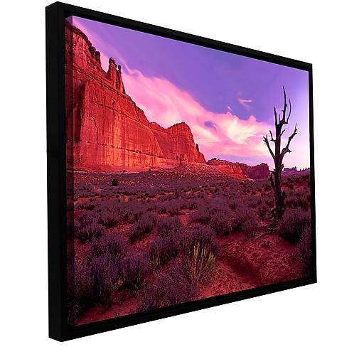"ArtWall 'High Desert Dawn' Gallery-Wrapped Canvas 24"" x 32"" Floater-Framed (0uhl051a2432f)"