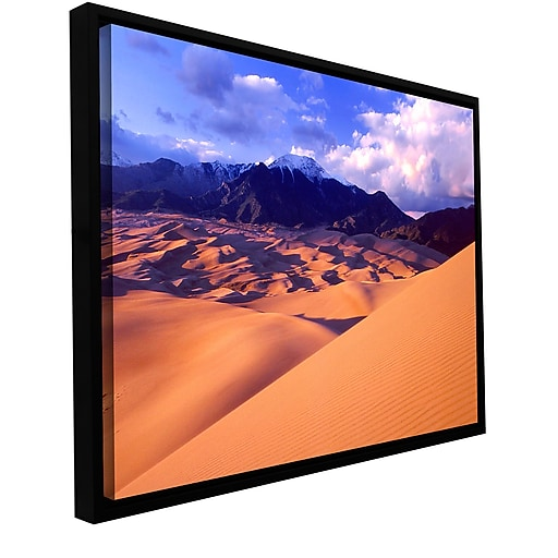 "ArtWall ""Great Sand Dunes"" Gallery-Wrapped Canvas 14"" x 18"" Floater-Framed  (0uhl052a1418f)"
