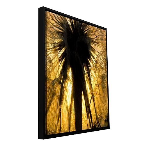 "ArtWall 'Heart of a Lion-Dandelion' Gallery-Wrapped Floater-Framed Canvas 18"" x 24"" (0uhl053a1824f)"
