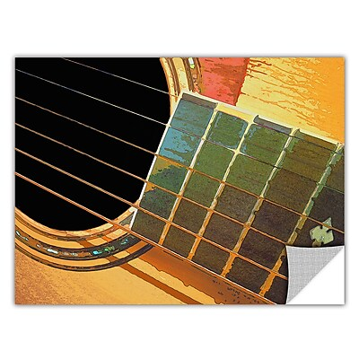 ArtWall 'Impresion De La Guitarra' Art Appeelz Removable Wall Art Graphic 24