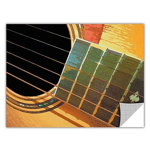 "ArtWall 'Impresion De La Guitarra' Art Appeelz Removable Wall Art Graphic 36"" x 48"" (0uhl054a3648p)"