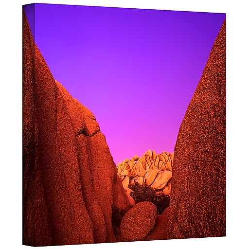 "ArtWall ""Jumbo Rocks Afterglow"" Gallery-Wrapped Canvas 36"" x 36"" (0uhl055a3636w)"