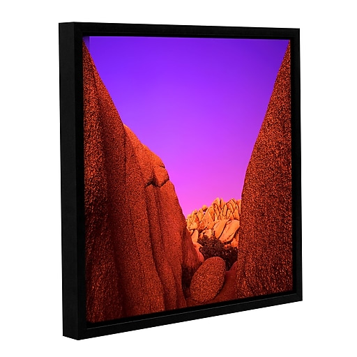 "ArtWall 'Jumbo Rocks Afterglow' Gallery-Wrapped Canvas 14"" x 14"" Floater-Framed (0uhl055a1414f)"