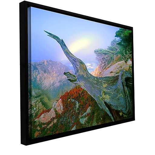 """ArtWall 'Like A Flame' Gallery-Wrapped Canvas 36"""" x 48"""" Floater-Framed (0uhl057a3648f)"""
