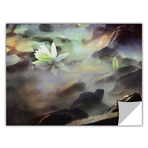 "ArtWall 'Lily In Rocks' Art Appeelz Removable Wall Art Graphic 18"" x 24"" (0uhl058a1824p)"