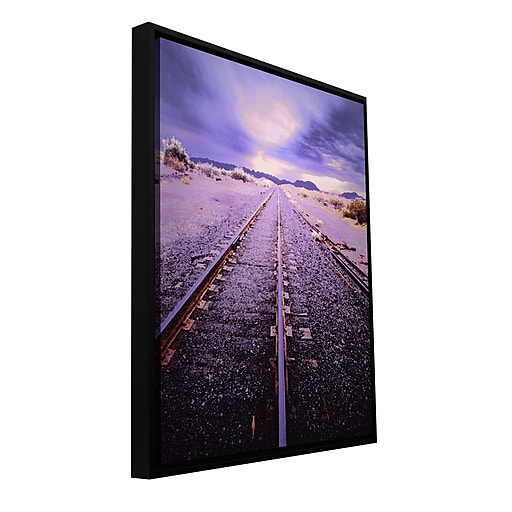 "ArtWall ""Vanishing Point Arizona"" Gallery-Wrapped Canvas 24"" x 32"" Floater-Framed (0uhl067a2432f)"
