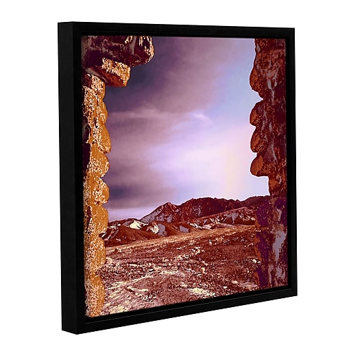 """ArtWall 'Borax Ruins' Gallery-Wrapped Canvas 36"""" x 36"""" Floater-Framed (0uhl071a3636f)"""