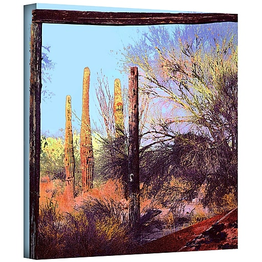 """ArtWall 'Ghost Ranch 2' Gallery-Wrapped Canvas 24"""" x 24"""" (0uhl076a2424w)"""