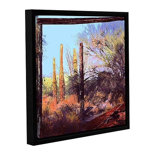 "ArtWall 'Ghost Ranch 2' Gallery-Wrapped Canvas 36"" x 36"" Floater-Framed (0uhl076a3636f)"