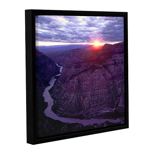 "ArtWall 'Green River Dinosaur' Gallery-Wrapped Canvas 18"" x 18"" Floater-Framed (0uhl077a1818f)"