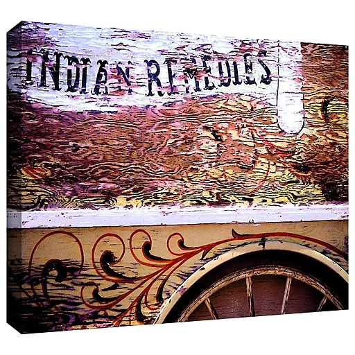 """ArtWall """"Indian Remedies"""" Gallery-Wrapped Canvas 14"""" x 18"""" (0uhl078a1418w)"""