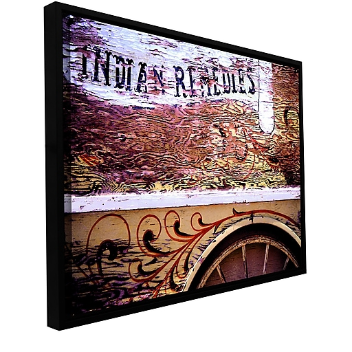 """ArtWall 'Indian Remedies' Gallery-Wrapped Canvas 14"""" x 18"""" Floater-Framed (0uhl078a1418f)"""