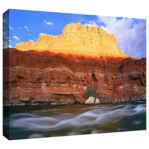 "ArtWall 'Marble Canyon Sunset' Gallery-Wrapped Canvas 18"" x 24"" (0uhl081a1824w)"