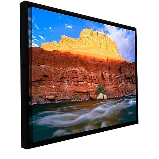 """ArtWall """"Marble Canyon Sunset"""" Gallery-Wrapped Canvas 36"""" x 48"""" Floater-Framed (0uhl081a3648f)"""