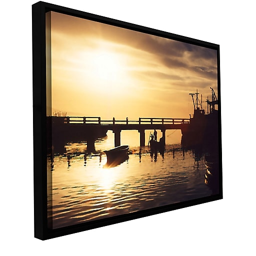 "ArtWall 'Mazatlan Morning' Gallery-Wrapped Canvas 14"" x 18"" Floater-Framed (0uhl082a1418f)"