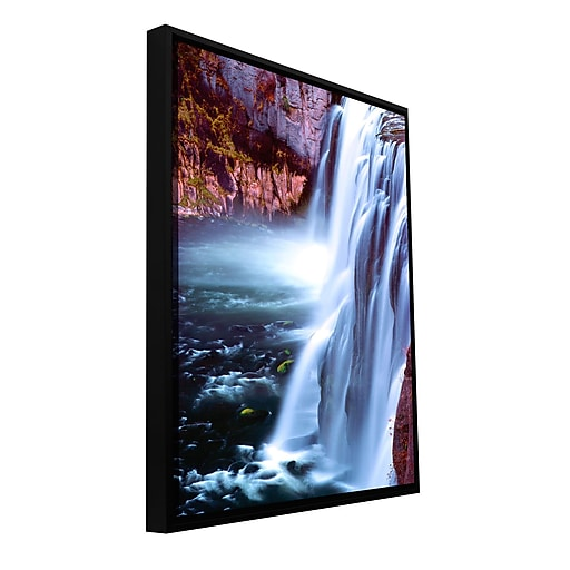 """Artwall 'Mesa Falls Morning' Gallery-Wrapped Floater-Framed Canvas 14"""" x 18"""" (0uhl083a1418f)"""