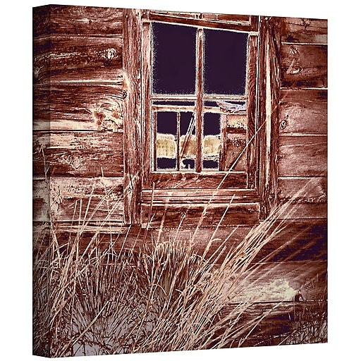 """ArtWall 'Miners Cabin' Gallery-Wrapped Canvas 18"""" x 18"""" (0uhl084a1818w)"""